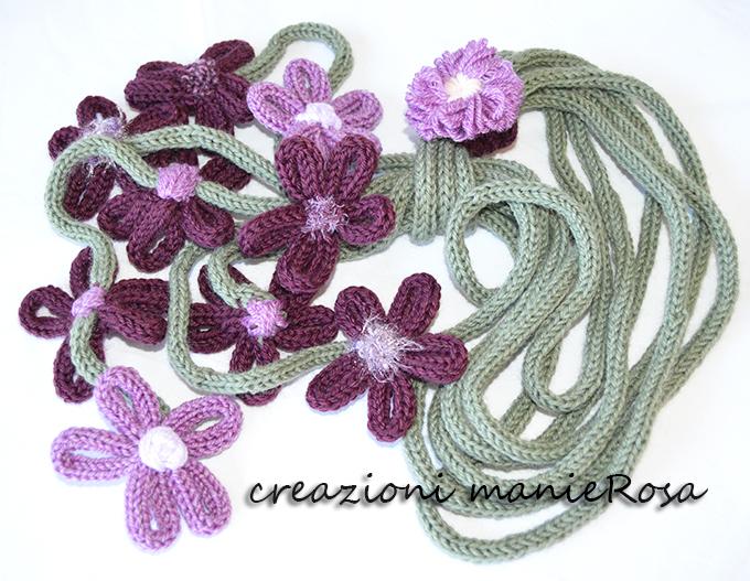 collana calda fiori viola